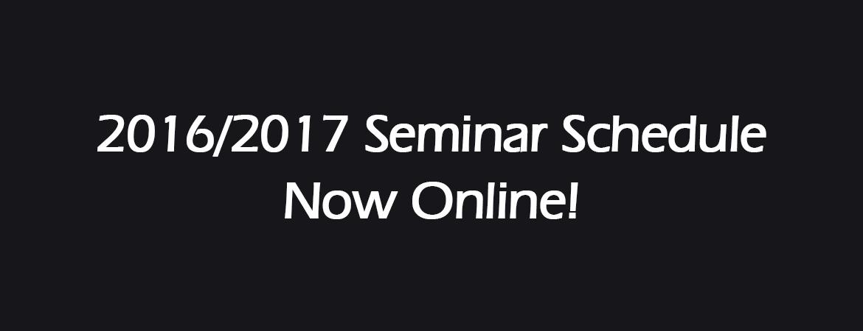 Fall Seminar Schedule