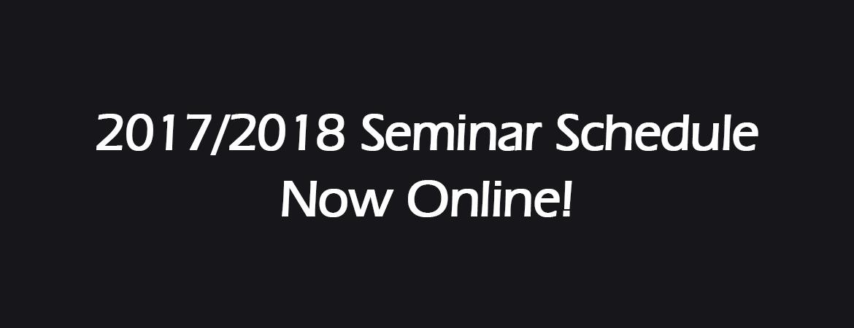 CDDS 2017 Seminar Schedule Online